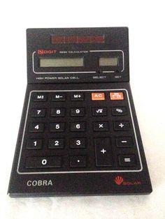 Cobra 8 Digit Desk High Power Solar With Clock Portable Calculator  #Cobra