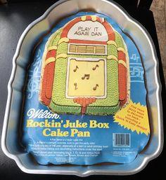 Wilton Cake Pan Rockin Juke Box 502-1387 Top 40's Birthday
