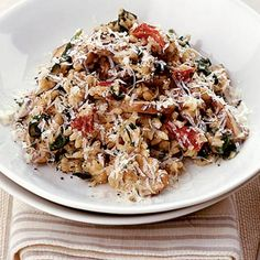 Mushroom, spinach and sundried tomato risotto