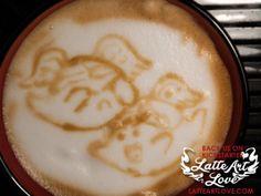 Latte Art - Doctor Who & Mario Mashup