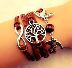Owl Bracelet Infinity Bracelet Achor Multi by ForTheWristAndSoul