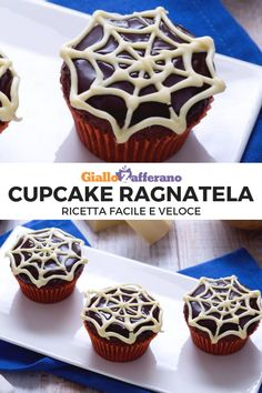 Hai in programma una festa a tema per la serata di Halloween  Questi  cupcake ragnatela a363562049f5