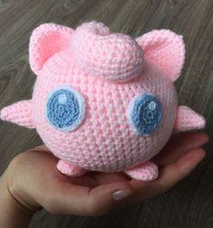 Crochet Pattern Jigglypuff Pokemon Amigurumi por LorysLittleFriends - Decor Tips 2019 Pokemon Crochet Pattern, Crochet Geek, Cute Crochet, Amigurumi Patterns, Crochet Crafts, Crochet Dolls, Yarn Crafts, Knitting Patterns, Crochet Patterns