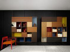 Porro Spa | <p>Modern è un sistema di contenitori modulari articolato e flessibile. E' pensato per disegnare spazi attraverso segni nit