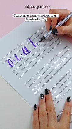 Hand Lettering Alphabet, Brush Lettering, Bullet Journal Lettering Ideas, Study Organization, Hand Lettering Tutorial, Bullet Journal School, School Study Tips, Note Paper, Study Motivation
