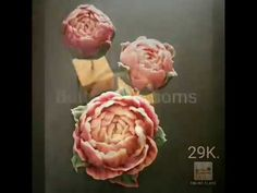 """How to make buttercream flowers """"Peony"""" by ButterBlossoms - YouTube"""