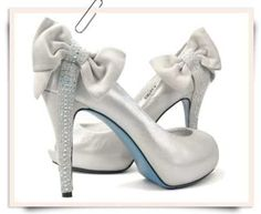 Bridal Wedding Ivory Silver Shoes