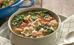 Kale and White Bean Soup with Mediterranean Chicken Sausage