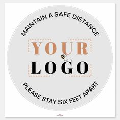 Six Feet Distance Stand Here Safety Floor Sign Marker Maintain 6 Foot Distance Decal Anti-Slip Tape Commercial Grade 11 Round Safety Floor Signage Stickers Social Distancing Floor Decals 10 PCS