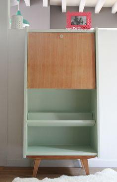 sweet green - Les jolis meubles. Secrétaire repeint vintage