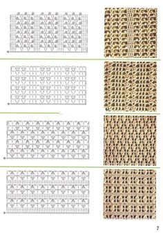 CROCHET LACE STITCH PATTERNS WITH DIAGRAMS (Russian) | Note: Original Website in Russian | Original Text of Post as Follows: Gallery.ru / Фото #55 - образцы вязания - angebaltik