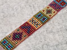 Sampler bracelet, woven on Mirrix