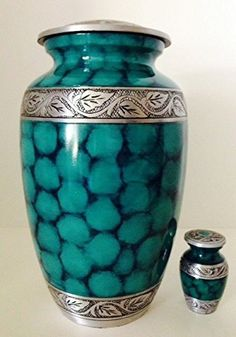Decorative Cremation Urns Cool Memorials4U Elite Cloud Blue And Silver Cremation Urn For Human 2018
