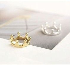 Crown Ring Jewelry Gold Silver Plated