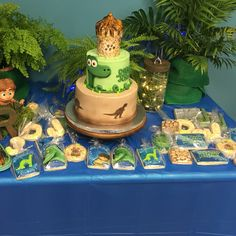 The Good Dinosaur party made by cookie art by Elly