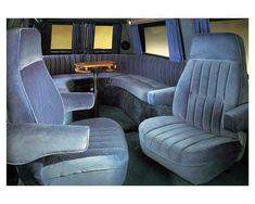 Custom Van Interior, Camper Interior, Chevy Conversion Van, Dodge Ram Van, Interior Photo, Interior Ideas, Astro Van, Custom Chevy Trucks, Old School Vans