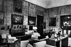 The salon of Marie-Laure de Noailles' apartment in Paris, designed by Jean-Michel Frank.