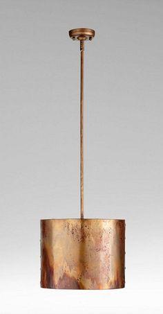 "Cyan Design Mauviel One Light Pendant Cyan Design 05156 Material: Iron Finish: Copper Height: 10"" Width: 0"" Length: 0"" Weight: 6 LBS Ships Via: UPS"