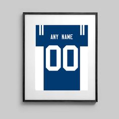 Indianapolis Colts Poster  Jersey Design   by CSportImages on Etsy
