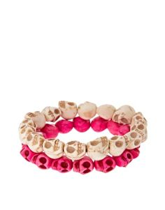 I actually have these pink skull beads... I should so something with them