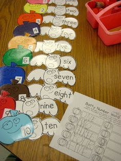 my kids need more work on this!! numbers/number words