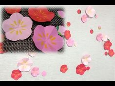 kimie gangiの お正月の壁面掲示「梅の花」(型紙付き) - YouTube How To Make Paper Flowers, Chinese New Year, Plum, Oriental, How To Make Flowers Out Of Paper, Chinese New Years