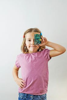 The Raspberry Pi was designed to be cheap enough that all youngsters might have a chance to learn programming. Photograph: Phil Fisk for the Observer