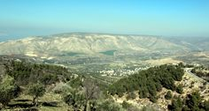 View from Umm Qais across the Golan Heights, Lebanon and Syria