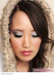 lovely grey eye makeup idea