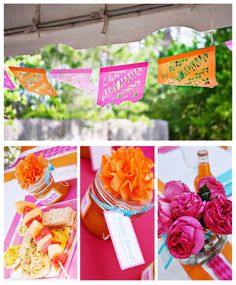 love these bright colors for my baby shower...i need the baby mama banner for sure hehehe jk