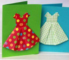 origami dresses (garland/card)
