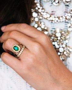 The color green symbolizes growth, so an emerald is a great stone for engagement rings.