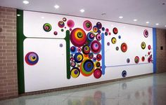 Abstract Wall Murals Stickers for Kindergarten School Wall Painting Decoration Design Ideas
