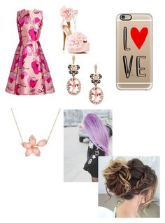 """""""My Valentines Day Look♡"""" by jadecosmic on Polyvore featuring Oscar de la Renta, Sugarbaby, Effy Jewelry, Casetify and Stephen Webster"""