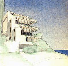 arquitectura + historia: Croquis Maestros: Las Articulaciones Ingrávidas de Rudolph Schindler
