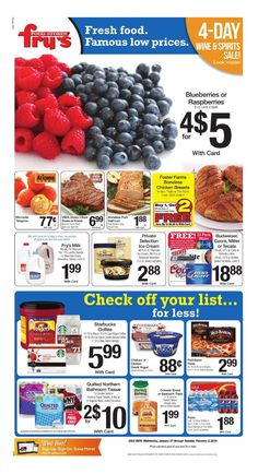 Fry's Weekly Ad January 27 - February 2, 2016 - http://www.olcatalog.com/grocery/frys-weekly-ad.html