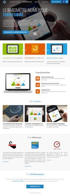 Baromètre numérique territorial 2013 #website #datavisualisation