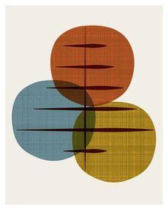 cercle, vintage, années 60