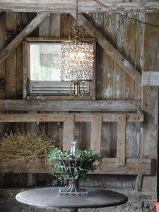 crystals and barn wood