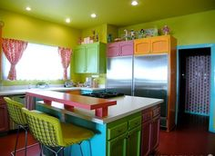 kitchen of many colors