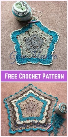 Crochet 5 sided virus afghan blanket free pattern