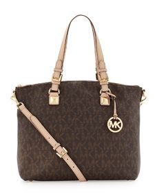 MICHAEL Michael Kors  Jet Set Logo Multifunction Tote--- My Mother in law got me this for Christmas it is wonderful!