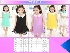 Vestido Para Niña Casual Elegante Moda Moderna Envio Gratis - $ 349.00 en…
