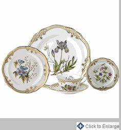 Stafford Flowers 5 Piece Place Setting with Free Rim Soup - Click to Enlarge