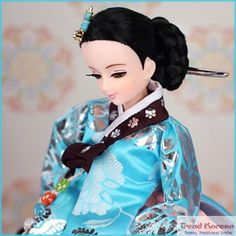 Korean Doll in blue hanbok