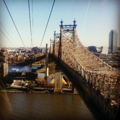 Queensboro Bridge NYC - View from the Tram to Roosevelt Island
