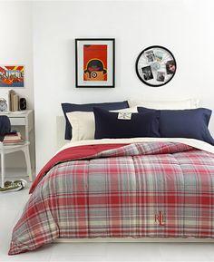 Lauren Ralph Lauren Nantucket Embroidered Logo Down Alternative King Comforter