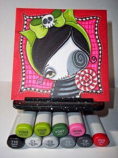 Make Art & Live Happy: Whimsy Girls Sweet & Sour Workshop