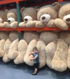 Introducing the #Hugfun 93 inch Plush Sitting Bear, currently available online from CostCo. This bear is bigger than your boyfriend @metrouk