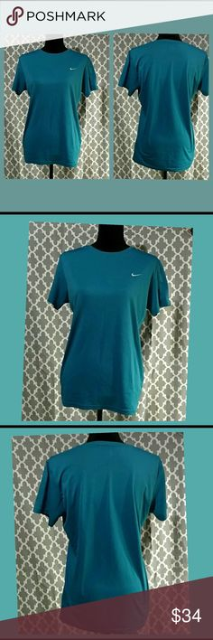 NWOT. Nike Dry Fit Tee Shirt New without tags. Purchased and washed. Not my size now. My loss is your gain; offer welcome. Brand new, Excellent condition. Beautiful teal color. Nike dry fit - perfect for fitness and activity! Nike Tops Tees - Short Sleeve